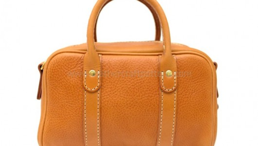 How to sew a leather boston bag