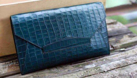 Leather clutch sewing instruction