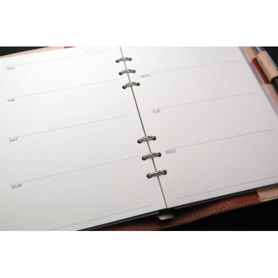 Notebook dairy loose leaf binder