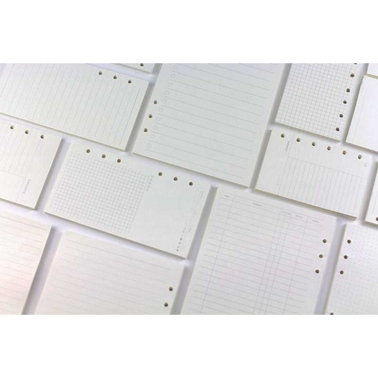 Notebook dairy inner page Refillable Pages