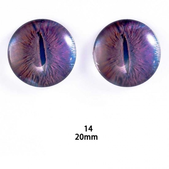 20mm Resin Cabochon glass eyes 2pc/lot