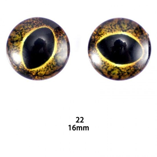 16mm Resin Cabochon glass eyes 2pc/lot