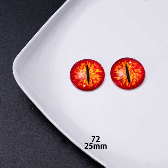 25mm Resin Cabochon glass eyes 2pc/lot