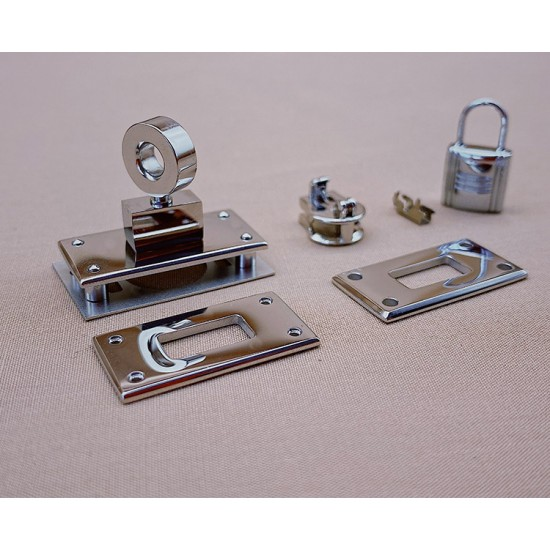 Hermes quality, stainless steel, Kelly pocket compact wallelt SLG-104 hardware kit