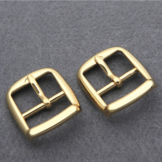 2 pc/lot Japanese solid brass 18K real gold plating hardware buckle