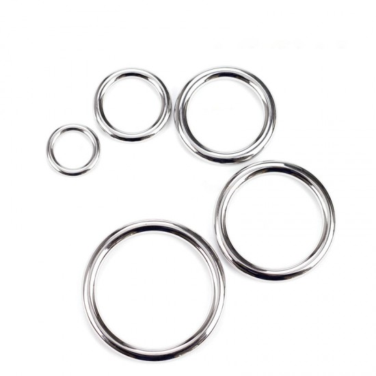 10pc/lot Gold and silver stainless steel ring