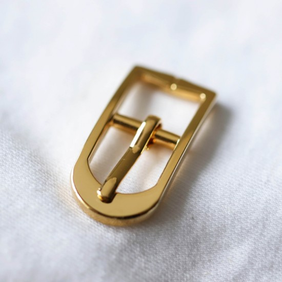 Japanese solid brass center bar needle buckle, 6pc/lot