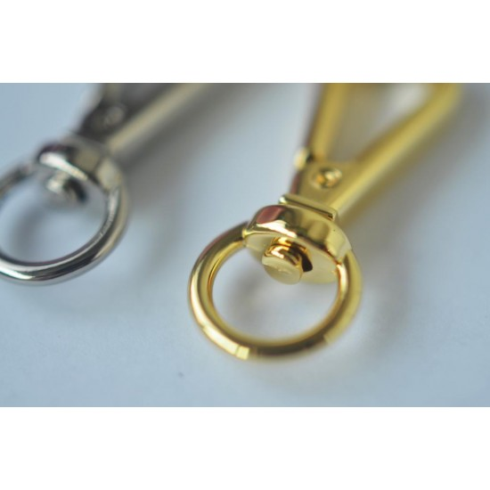 1pc/lot Gold and silver kirsite dog hook, inner diameter 13mm, 20mm, 25mm