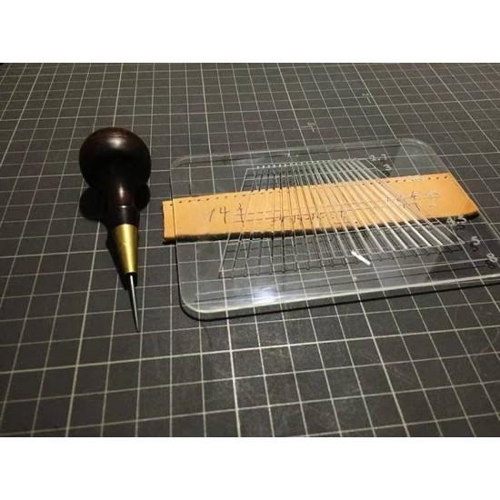 Chisel hole caculator, pricking iron hole ruler