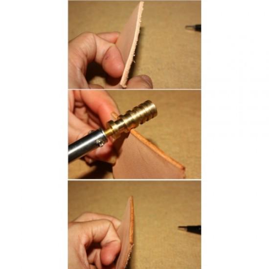 leather tools copper edge polisher, hot edge polish stick, leather edge creator