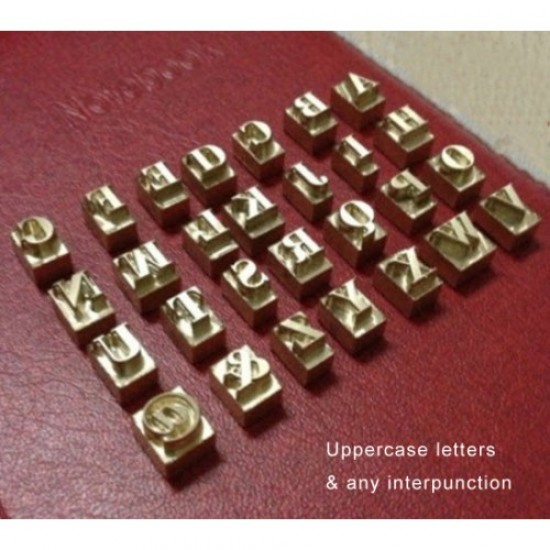 Free shipping Leather stamp custom stamp Copper Alphabet letters Hot Logo number interpunction, moveable alphabet Hot Logo Advertising Logo