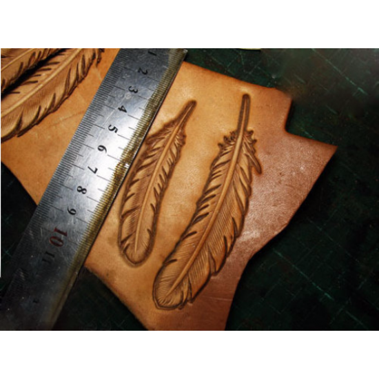 leather feather mold mould hot stamp Leather stamp Logo stamp leathercraft tools leather craft tools leather working tools leather tools