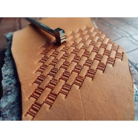 Leather stamp, leather craft tools, leathercraft tool, basket-3