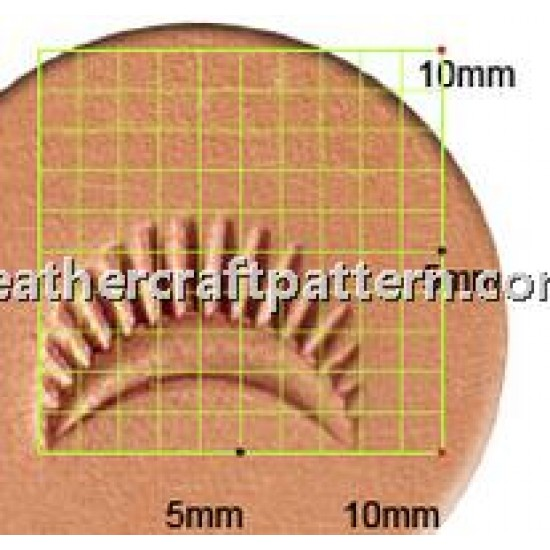 leathercraft tool leather stamp Craft Japan D436 Border Stamp leather tools