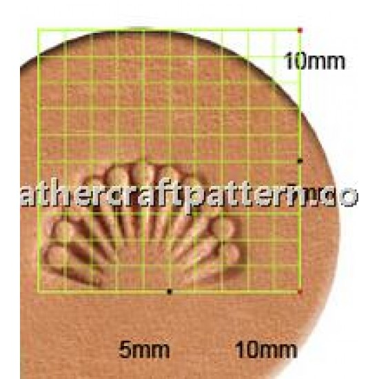 leathercraft tool leather stamp Craft Japan D637 Border Stamp leather tools