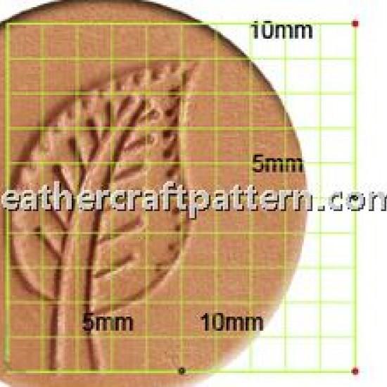 leathercraft tool leather stamp Craft Japan Stamp Leaf L948 leather tools