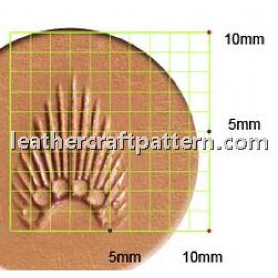 leathercraft tool leather stamp Craft Japan Stamp Sunbrust N301 leather tools
