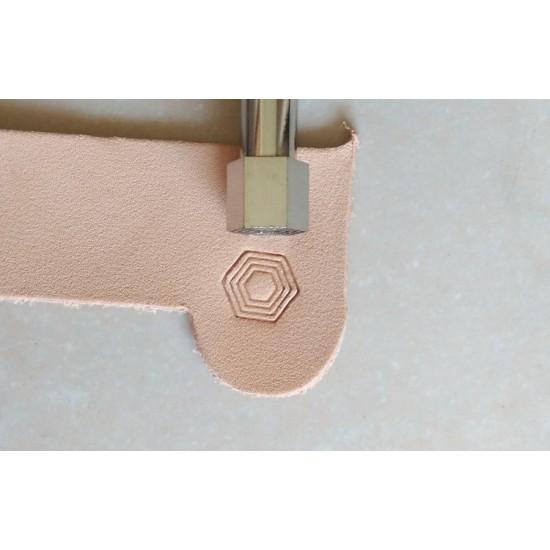 Leather stamp, leather craft tools, leathercraft tool, Geometric-16