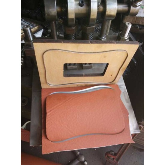 World debut free shipping- Hand crank leather cutting machine, leather die presser