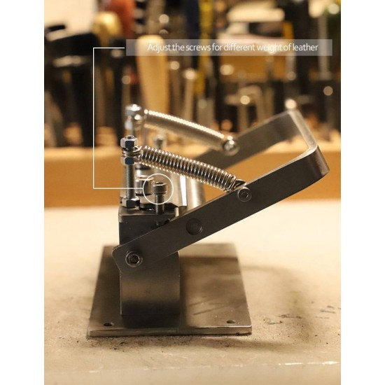 Portable leather skiver machine