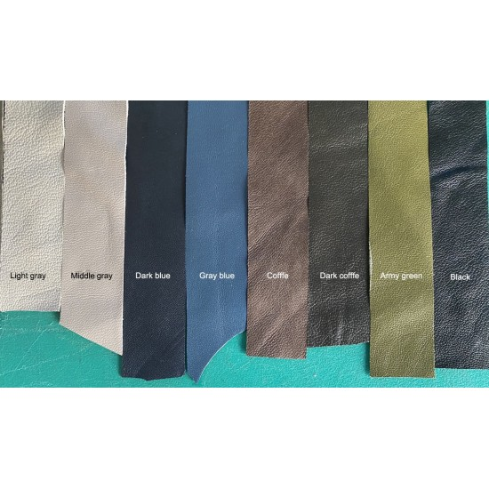 Multi color edge binder leather, Thin leather strip, goat skin
