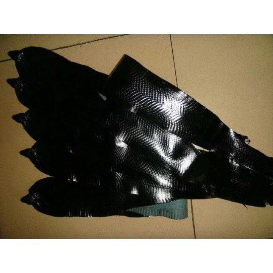"Natural genuine head cobra snake skin leather Pelt 14cm x 140cm (5.5"" x 55"")"