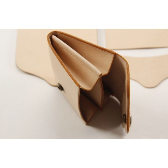 Precut leather material kit 3 fold coin purse M-22