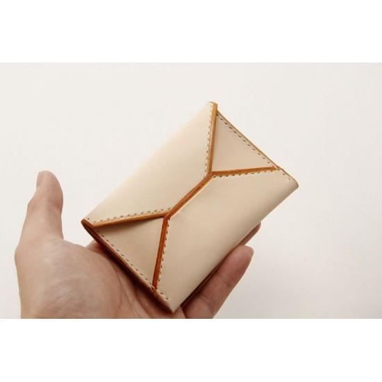 Precut leather material kit card holder M-28