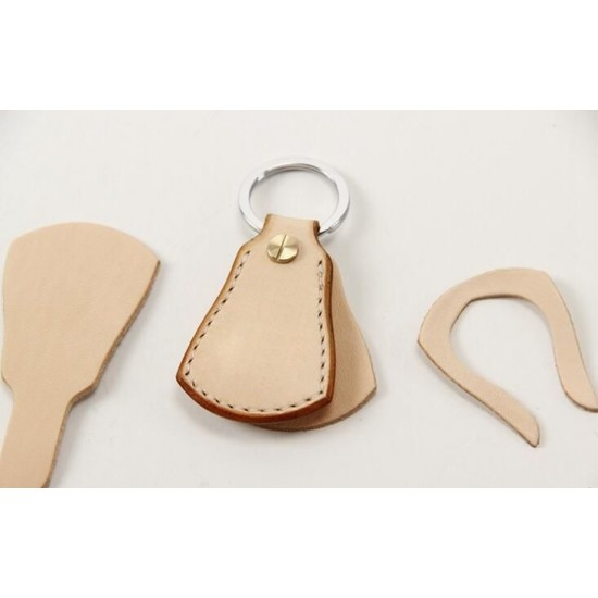 5 sets/ lot Precut leather material kit key pendant M-29