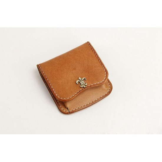 Precut leather material kit coin purse M-32