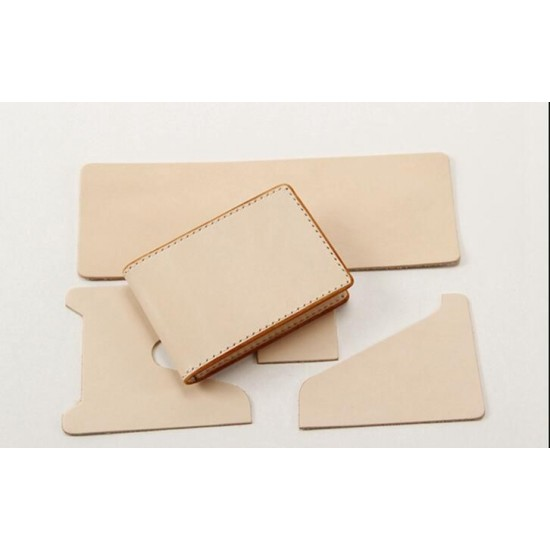Precut leather material kit card case M-35