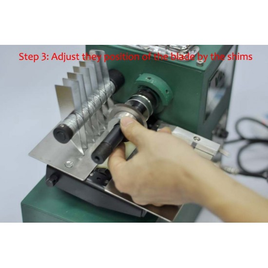 Professional leather machine, leather strip cutter, leather splitter, strap cutter 220V 40W