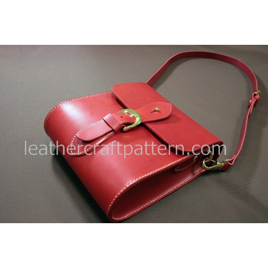 Leather bag pattern, leather bag patterns cross body bag pattern bag sewing pattern PDF instant download ACC-05
