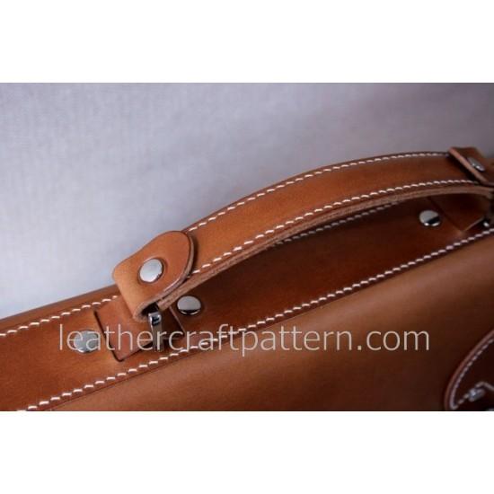Bag Pattern Briefcase Pattern Cambridge Satchel Man shoulder bag PDF ACC-07 leather craft patterns leather art leather supply