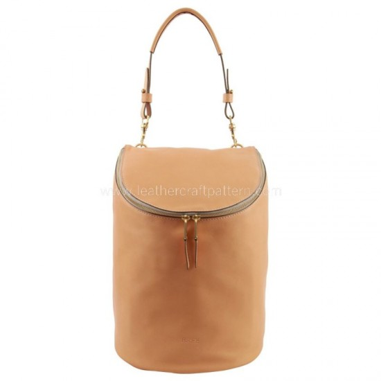 With instruction Bree Stockholm bucket bag pattern drawstring pattern PDF ACC-106 leather craft patterns leathercraft pattern