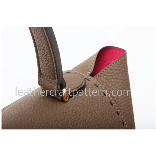 Leather bag patterns, lady handbag patterns , dress bag patterns, patterns, PDF instant download, leathercraft pattern ACC-14