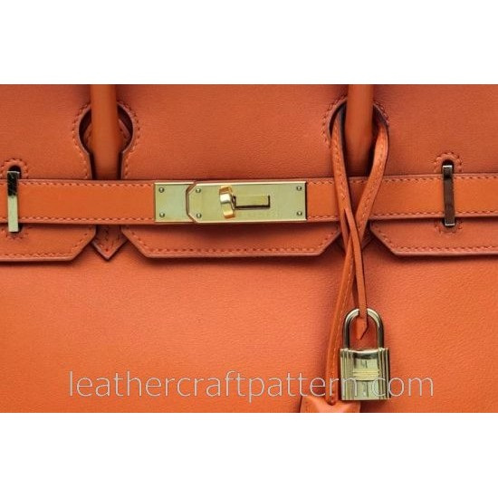 leather bag pattern, PDF download, With instruction, Leahter Bag sewing Pattern ACC-20