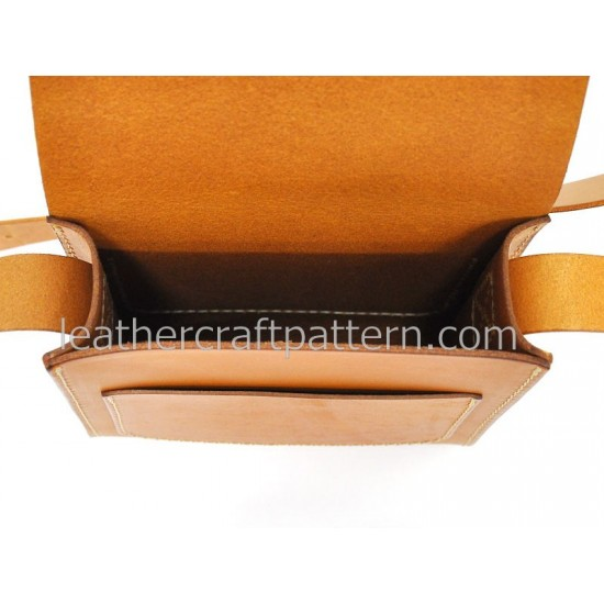 Leather bag sewing patterns leather craft pattern messenger bag pattern ACC-23 PDF instant download