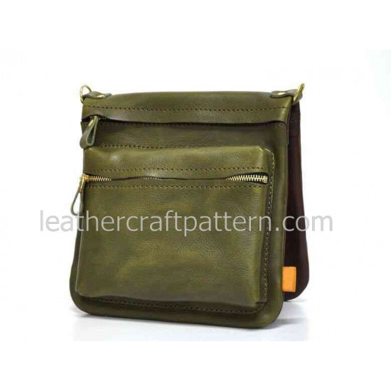With instruction leather bag pattern messenger bag pattern bag sewing pattern PDF instant download ACC-25