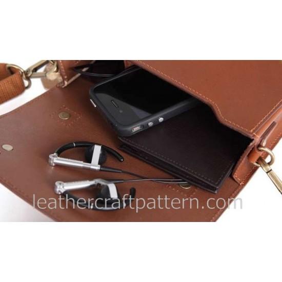 With Instruction Bicycle bag pattern shoulder bag pattern bag sewing patterns PDF ACC-26 hand stitched leather pattern leather pattern