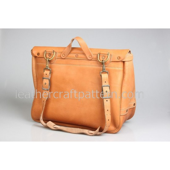 With instruction Leather Messenger bag pattern bag sewing pattern PDF download ACC-30