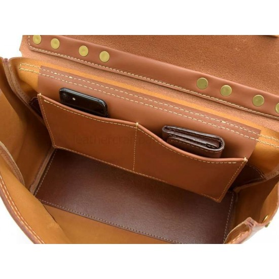 With instruction - leather travel bag pattern PDF instant download ACC-41 leathercraft pattern leather craft pattern leather template