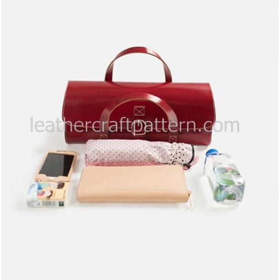 With instruction Leather Baguette handbag pattern PDF instant download ACC-49