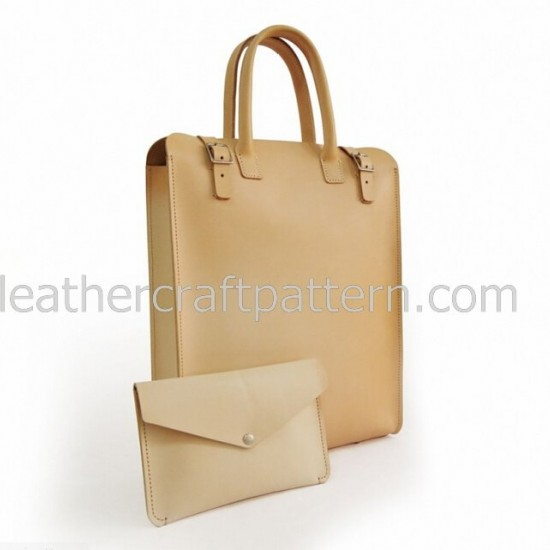 With instruction - PDF sewing patterns Tote Bag pattern handbag instant download ACC-56 leather craft leather working pattern