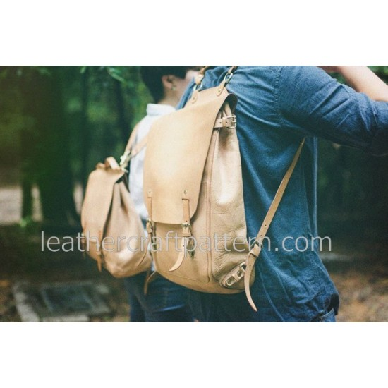 Leather bag pattern backpack pattern bag sewing pattern PDF instant download ACC-64 With instruction