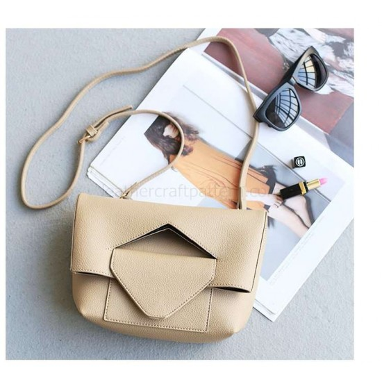 With instruction leather foldover bag pattern PDF instant download ACC-67 leathercraft pattern leather craft pattern leather template