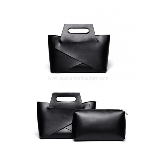 With instruction Handbag pattern leather bag patterns ACC-98 PDF instant download