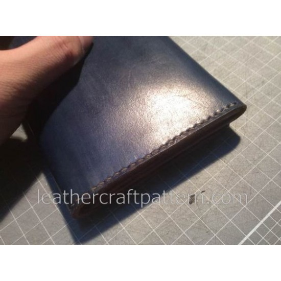 With instruction leather wallet patterns PDF insant download LWP-07 leathercraft patterns