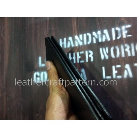 Leather bag pattern long wallet pattern PDF LWP-25 leather craft leather working leather working patterns bag sewing