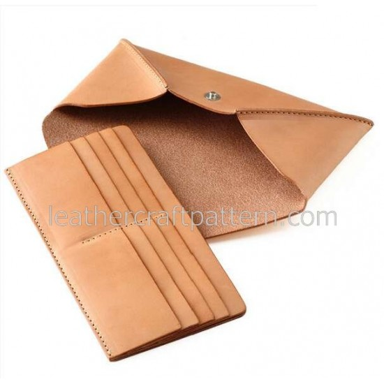 Leather bag patterns long wallet pattern PDF LWP-26 leather craft leather working leather working patterns bag sewing